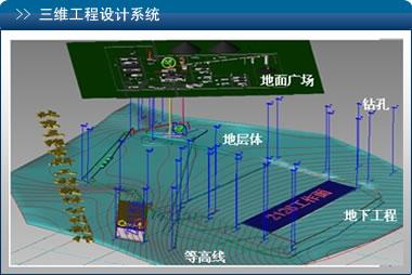 吉斯三维矿山辅助设计系统由三维工程数据库,三维建模图形平台组成.